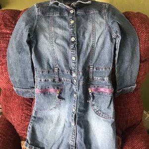 Girls long sleeve jean dress